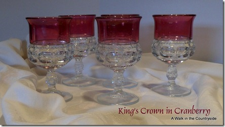 A Walk in the Countryside: Vintage King's Crown in Cranberry