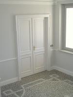 riproduzione di porta antica laccata in sitle fine '800