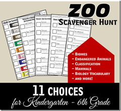 zoo scaventer hunts
