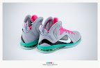nike lebron 9 ps elite grey candy pink 9 37 sneakerbox LeBron 9 P.S. Elite Miami Vice Official Images & Release Date