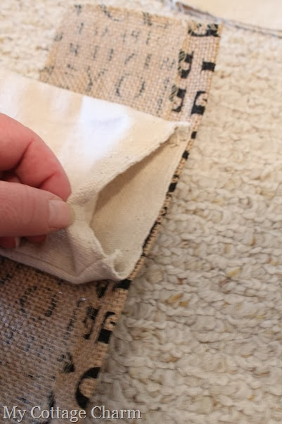 how to make a burlap stocking