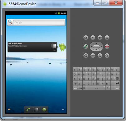 6Andoid emulator started