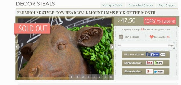 Cow Head Wall Mount | Mounted Cow Head | Cow Heads | Farmhouse Style 2