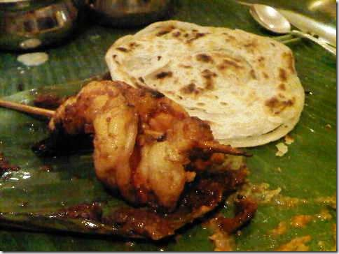 prawn and malabar paratha