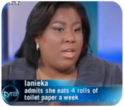 comer papel higiénico