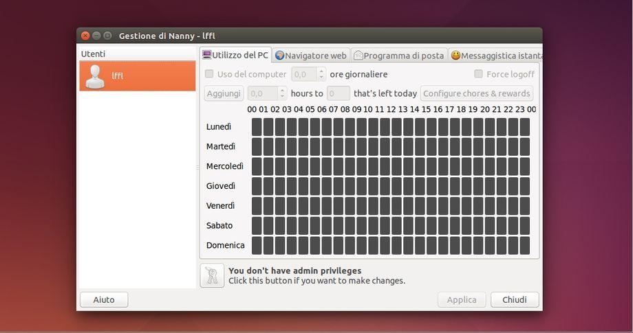 Nanny in Ubuntu Linux