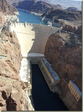 View from New bridge at Hoover Dam (2)