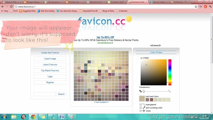 uploaded favicon image