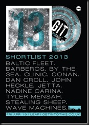 GIT AWARD SHORTLIST 2013
