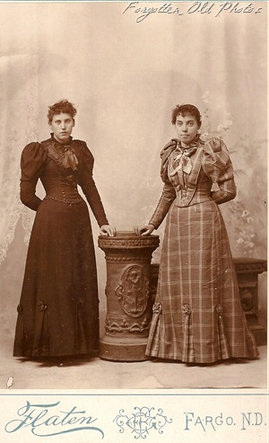 Sisters in dresses DL Antiques