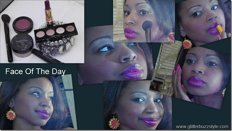 Face Of The Day Purple Plum