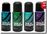 Rediff: Buy Pack Of 4 Wildstone 150ml Deodorants at Rs.599:buytoearn