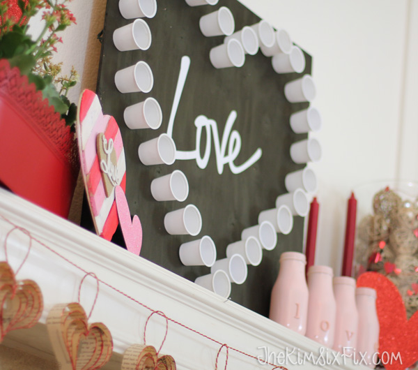 Love Valentine Day Mantel