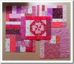 Pink box slab quilted and cut