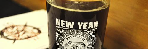 image of a taster glass from this year's New Year Beer Festival courtesy of the festival organizers & our Flickr page