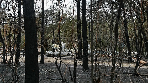 The aftermath of the bushfire in Seaton, Australia in January 2013. Photo: Craig Sillitoe / Sydney Morning Herald