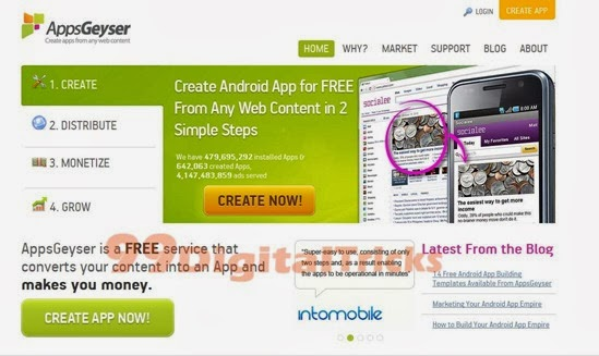 Create An Android App For Your Blogger Blogs