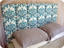 Easy Upholstered Headboard {Sawdust and Embryos}