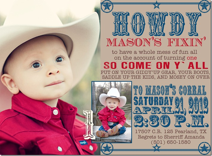 Mason's birthday Invitation copy