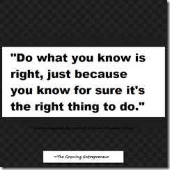 do what you know is right.
