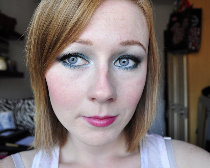 blue had me at hello wetnwild makeup look swatches FOTD