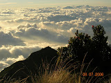 Above the clouds on Merbabu (Wolfgang Piecha, July 2006)