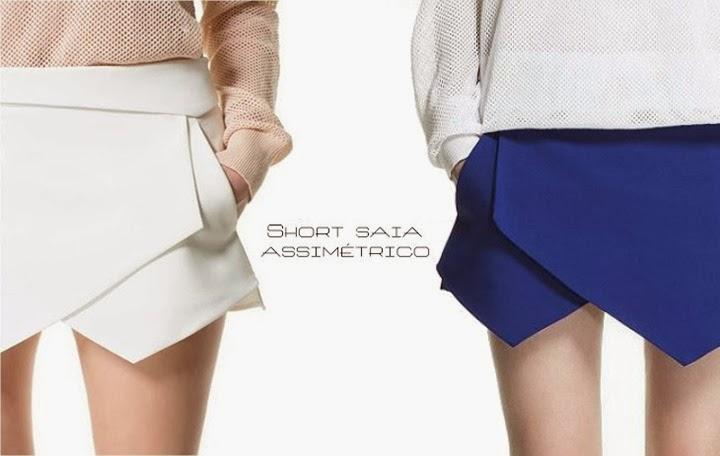 skort - short saia assimétrico como usar