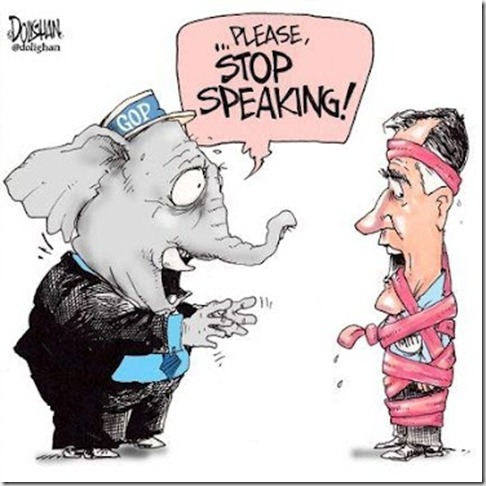 cartoon romney stop speaking