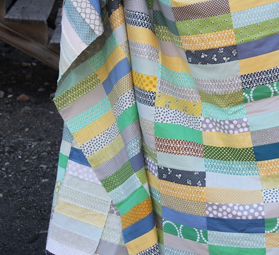 Simple boy strip quilt