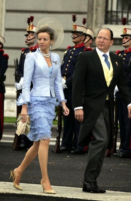 Miriam Ungría, acompañada de su esposo Kardam de Bulgaria, l