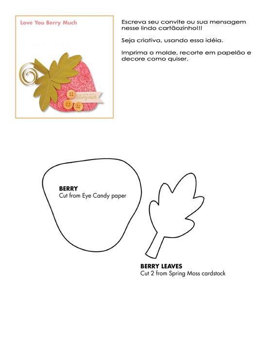 cartao morango