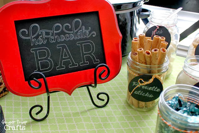 hot chocolate bar DIY sign with #Silhouette