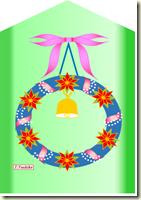 リースクリスマスカード・