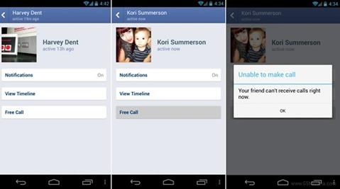 Llamadas gratuitas desde Facebook para Android