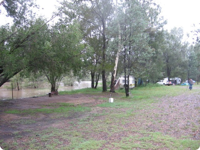 Gwydir River Campground - the flood develops - Taken by Mal & Kerry