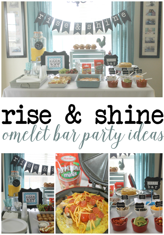 Rise & Shine Omelet Bar Party Ideas at GingerSnapCrafts.com #omeletbar #pepitup #cbias #ad