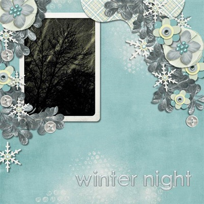 Katie Creates - Let It Snow - Winter Night
