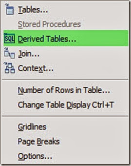 Derived table Rclick