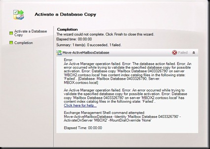 Exchange Your Experience Move Activemailboxdatabase Failed
