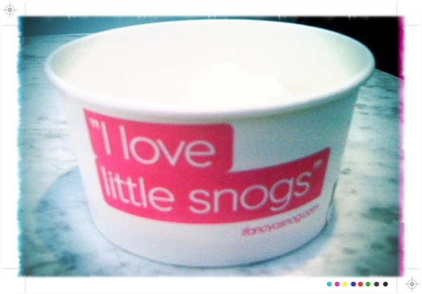 Snog natural frozen yoghurt
