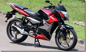 Modified Bajaj Pulsar 135 LS semi fairing.