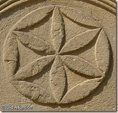 Símbolo solar - Estela romana de San Pedro de Lizarra