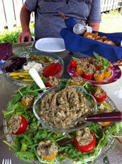 Eggpant salad