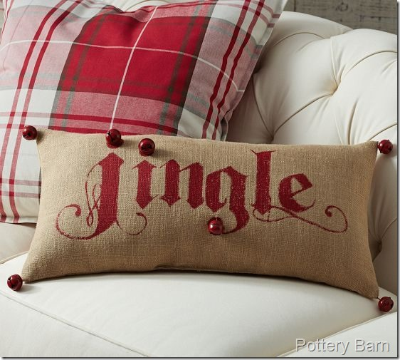 Pottery Barn Lumbar Jingle Pillow
