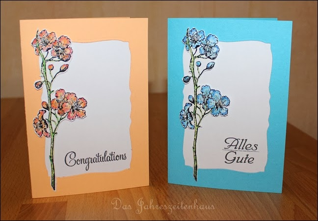 Grußkarte handgemacht Blüte 6