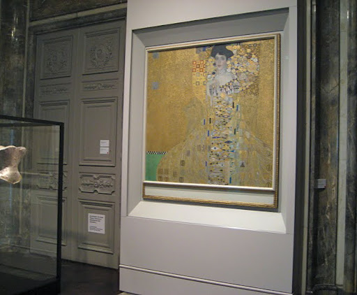 Klimt's renown portrait of Adele Bloch Bauer, completed in 1907.