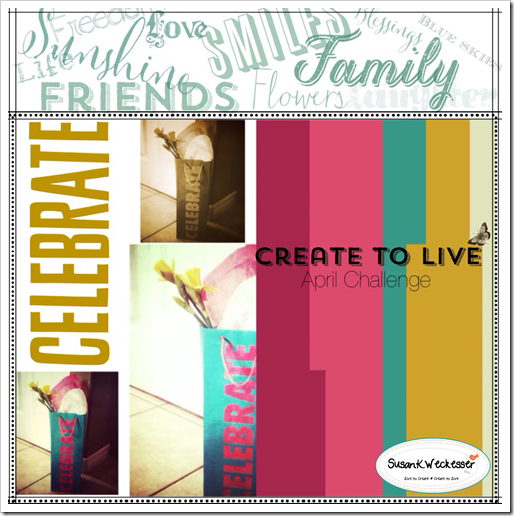 Create to Live Challenge April