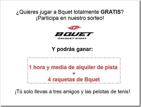 ¿Quieres jugar a Bquet totalmente gratis? Participa en el sorteo y disfruta del deporte de moda.