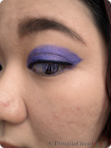Priscilla Clara beauty blogger IBB MUC Maybelline Color Tattoo Painted Purple eye makeup FOTD 9