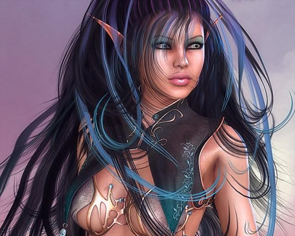 Beautiful Elf Warrior Girl, Magick Warriors 3